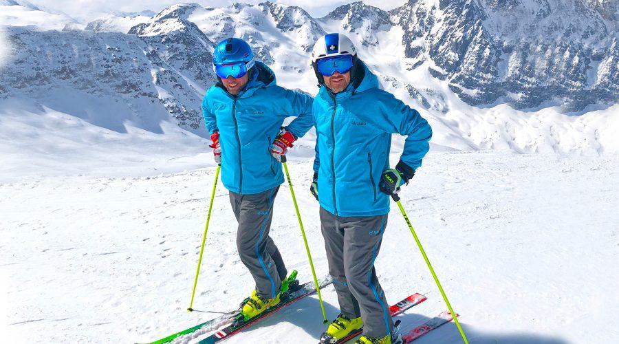 Michael Dohmen und Jörn Neßlinger beim Superskitest in Sulden